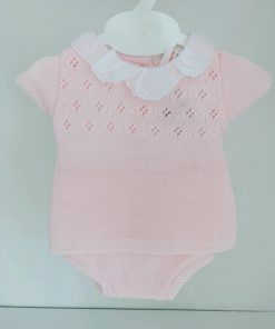 Pink Knitted Girls Outfit