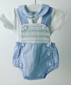 Baby Boys Smocked Romper
