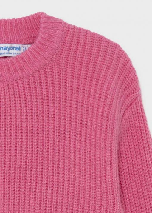 Mayoral Girls Outfit Knitted Pink