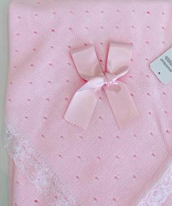 Pink Knitted Blanket Bow