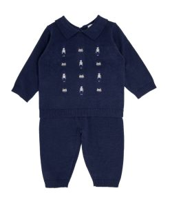 Navy Knitted Soldier Outfit